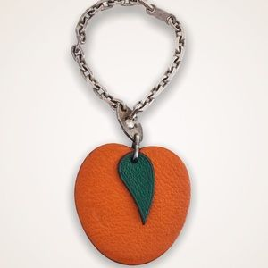 HERMES Apricot Fruit Bag Charm/Key Holder